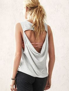 The best way to show off your ultra-cute bralettes. | Victoria's Secret Cowl-back Tank