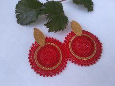 Crochet Earrings, Jewelry, Fashion, Stud Earrings, Moda, Jewlery, Jewerly, Fashion Styles, Schmuck