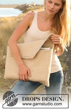 """Felted DROPS laptop bag in """"Nepal"""". I am SO going to make this :)."""