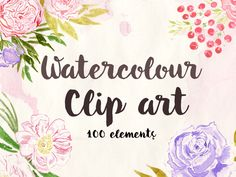 Watercolor, watercolor clip art, watercolor flowers free, png's of flowers, flowers on a transparent background, roses, peonies, Flower Clip Art