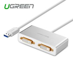 دیجیک   گرافیک مجازی 2 تصویره از یک سیستم کامپیوتر از USB 3.0 به DVI HDMI  VGA   مدل Ugreen 20246