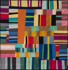 solids stripes quilt - no link