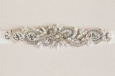 Antique bridal sash - Style R30 | MillieIcaro. I love this one with the bit of darker thread on the beads. Really does the vintage look well. Only $98.