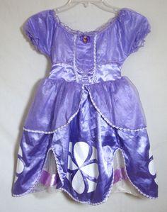 Disney Store Princess Sofia The First Purple Costume Dress Long Child Size 4 #DisneyStore #Dress