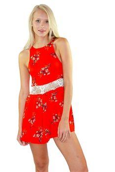 Flower Posy Playsuit by #MINKPINK. www.Shoplaurennicole.com  #romper #playsuit #floralprint #pretty #laurennicole #shop