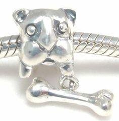 Sterling Silver Dangle Euopean Bead/charm/pendant Bull Dog with his Bone Fit Pandora Biagi Chamilia and Trollbeads Chain Bracelet Necklace Beads Hunter silver Charm,http://www.amazon.com/dp/B0056IFHAY/ref=cm_sw_r_pi_dp_ZrB8sb0TTJ7HA5XE