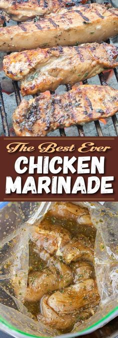 Best Ever Grilled Chicken Marinade - This marinade imparts the ultimate flavor experience and produces a juicy tender piece of grilled chicken. Be sure to add this to your of July menu. recipes chicken marinade Best Ever Grilled Chicken Marinade Meat Marinade, Chicken Marinade Recipes, Barbecue Sauce Recipes, Grilling Recipes, Meat Recipes, Cooking Recipes, Healthy Recipes, Best Grilled Chicken Marinade, Grilled Chicken Seasoning