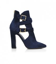 A dreamy shade of navy suede // Tamara Mellon Highway Sandals