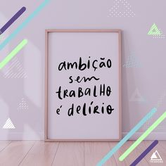 "Lettering Art: ""Ambição sem trabalho é delírio"" / Portfolio / Social Media Facebook E Instagram, Portfolio, Marketing Digital, Cinema, Secret Book, Worksheets, Social Networks, Movies, Movie Theater"