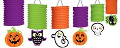 Halloween Friendly Lantern Garland - 3.65m Halloween Decoration