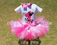 Personalized Minnie Mouse Tutu Set with by DivaSophiaBoutique