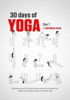 Yoga For Beginners 30 Day Challenge - Fitness Style Fitness Style, Yoga Fitness, 30 Day Yoga Challenge, Workout Challenge, Yoga Poses For Beginners, Workout For Beginners, Yoga Day, 30 Days Of Yoga, Morning Yoga