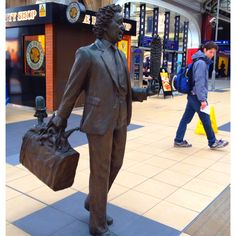 "Tom Murphy's ""Ken Dodd"" at Liverpool Lime Street Station"