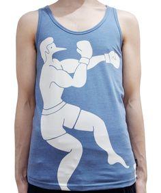 ROCKWELL - WIFEBEATER TANK TOP (BLUE) http://www.raddlounge.com/?pid=76715633 #raddlounge #style #stylecheck #fashionblogger #fashion #shopping #menswear #clothing #julianzigerli #harajuku #rockwellbyparra #rockwellclothing #parra