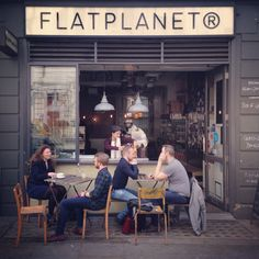 FLATPLANET coffeehouse, Great Marlborough St, London. Photo: Rob Bentley