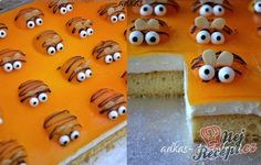 Apricot Cake with Bees Cake Bars, Apricot Cake, Beautiful Cakes, Appetizer Recipes, Holiday Recipes, Food And Drink, Yummy Food, Nutella, Sweet
