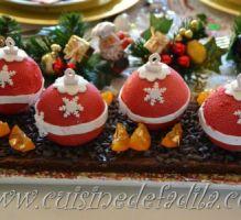 Recette - Bûches boules de Noël - Proposée par 750 grammes