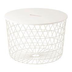 IKEA - KVISTBRO, Mesa de almacenaje, , El asa del tablero facilita abrirlo y acceder al contenido.
