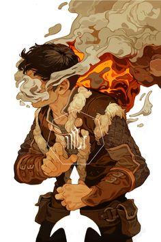 """Dragon Age: Magekiller"" by Sachin Teng* # illustration digital painting smoke…"