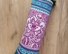Knitted Christmas SocksChristmas GiftHoliday Decor от SELENMAR