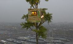 Tree House by artist Leonard van Munster using recycled materials.