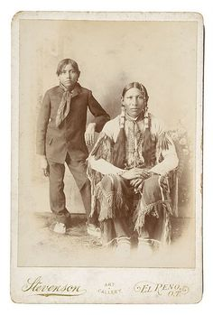 Southern Cheyenne father and son - 1900