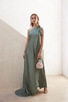 Tie Dress, Dress Skirt, Dress Up, Theia Dresses, Ibiza Outfits, One Shoulder Dress Long, Resort Wear For Women, Clothing Blogs, Evening Dresses