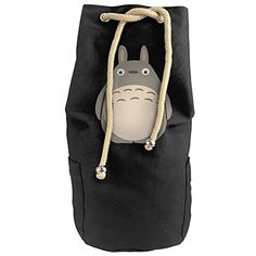 ANDARSON Cylindrical Toto Chinchilla Rucksack Canvas Beam Port Drawstring Basketball Shoulder Bags >>> Read more at the affiliate link Amazon.com on image.