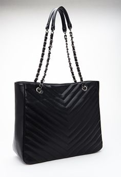 Quilted Chevron Tote | FOREVER21 - 1000136724