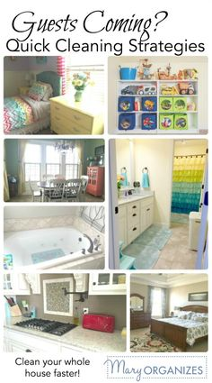 Guests Coming - Strategies for Quick Cleaning. #home #organize #organizing #family