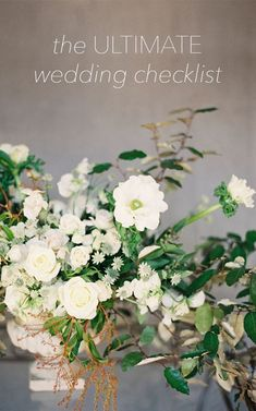 The Ultimate Wedding Planning Checklist via oncewed.com