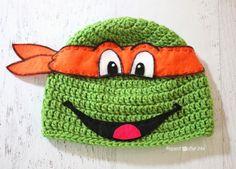 Crochet Ninja Turtle Hat Pattern - Repeat Crafter Me