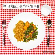 Sweet potato loves kale too! recipe: www.becookstoo.com
