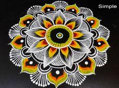 Simple and Big Deewali Special Rangoli Design Diwali Special Rangoli Design, Rangoli Designs, Eye, Simple