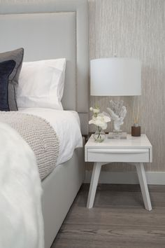 Boys room bedside table setting -Designed by JHR Interiors