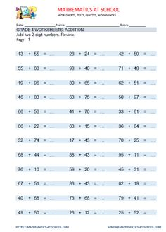 grade  maths worksheets and printable pdf grade  maths worksheets addition adding three digit numbers worksheets  with answers