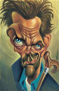 HUGH LAURIE CARICATURES--HOUSE