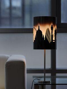 Cool Lampshade Design London skyline