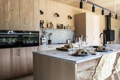 A Modern Warm and Minima Scandinavian Home Nordicdesign 13 - Nordic Design Interior Exterior, Interior Design, Modern Kitchen Cabinets, Modern House Plans, Scandinavian Home, Nordic Design, Cuisines Design, Cabins In The Woods, Contemporary Interior