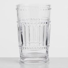 Clear Pressed Glass Highball Glasses Set of 4