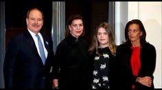 Albert II, Caroline of Hanover, Stephanie of Monaco & Camille  attended ...