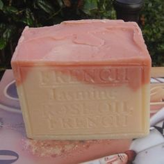 Special Large Aged Limited Edition Soap French Jasmine With Crushed Flowers and Rose Oil by Natural Handcrafted Soap LLC, http://www.amazon.com/dp/B004H6HZPQ/ref=cm_sw_r_pi_dp_L7pWrb120JMXR