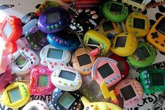 Giga Pets... and nano babies... and tamagotchies.  The original personal technologies banned from the classroom.