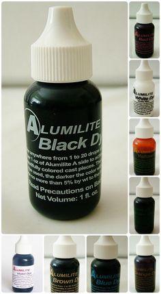 Alumilite Liquid Pigment transparent dye - single 1 ounce colors