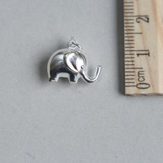 Sterling Silver Elephant Silver Elephant Charm by JKWSupplies