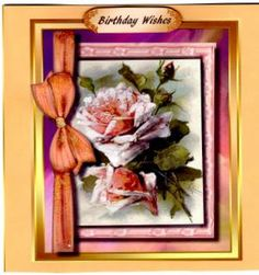 Lovely Roses in a Ribbon Frame  on Craftsuprint - View Now!
