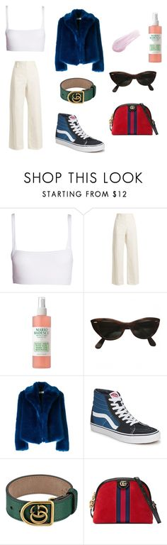 """""""saturday"""" by swiperight on Polyvore featuring Dries Van Noten, The Row, Mario Badescu Skin Care, Ray-Ban, Vans, Gucci and Lipstick Queen"""