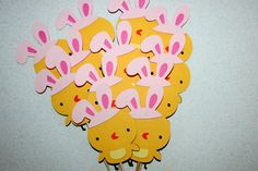 Easter Bunny Chicks Easter Cupcake toppers Food Picks
