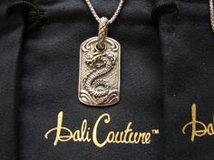 """BALI COUTURE STERLING SILVER & 18K DRAGON NECKLACE FOR """"GAME OF THRONES"""" LOVERS! http://www.ebay.com/itm/BALI-COUTURE-STERLING-SILVER-18K-DRAGON-NECKLACE-FOR-GAME-OF-THRONES-LOVERS-/311459872695?ssPageName=STRK:MESE:IT"""