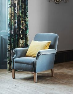 Velvet Occasional Chair by Rose & Grey